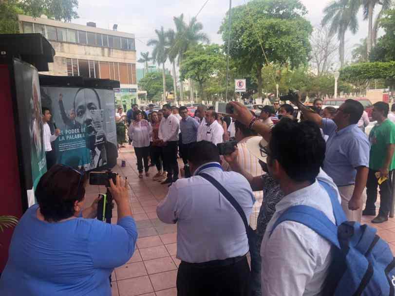 Túnel 2.0. Corte de listón inaugural. Ayuntamiento de Poza Rica, Veracruz.